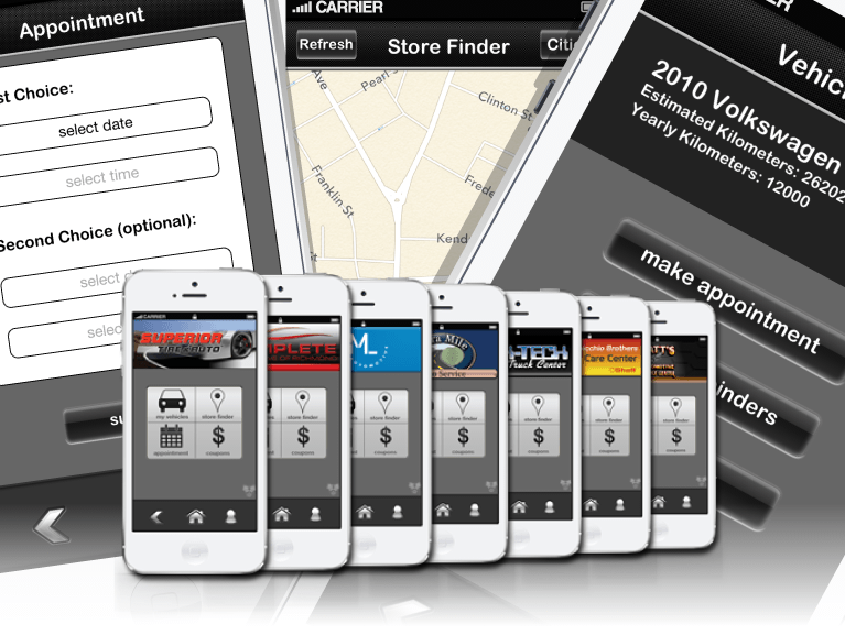 Auto-Service App iPhone product